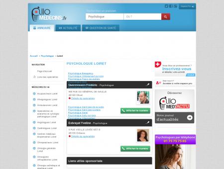 Psychologue Loiret - Médecin - Annuaire des...