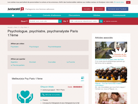 Psychologue Paris 17ème 75017 - Guide des...