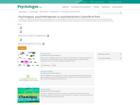 Psychologues Joinville-le-Pont - Psychologue.net