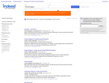 Emploi Psychologue - Jobs | Indeed.com