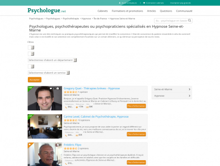 Hypnose Seine-et-Marne - Psychologue.net