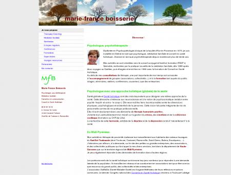 Marie-France Boisserie, psychologue en...