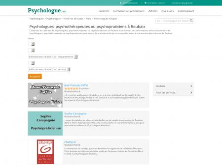 Psychologues Roubaix - Psychologue.net