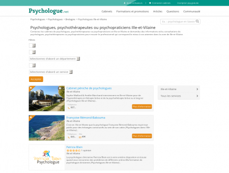 Psychologues Ille-et-Vilaine - Psychologue.net
