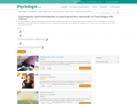 Psychologue ado Yvelines - Psychologue.net