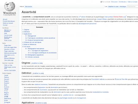Assertivité  Wikipédia