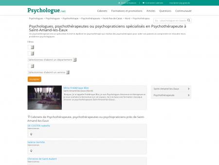 Psychothérapeute Saint-Amand-les-Eaux -...