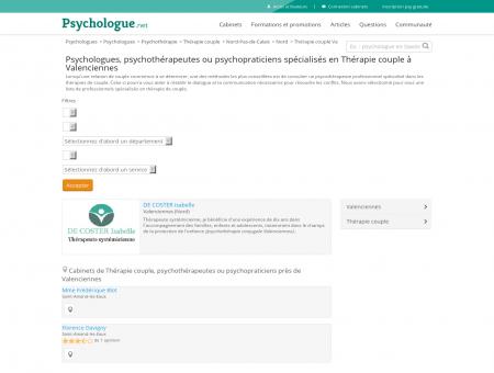 Thérapie couple Valenciennes - Psychologue.net
