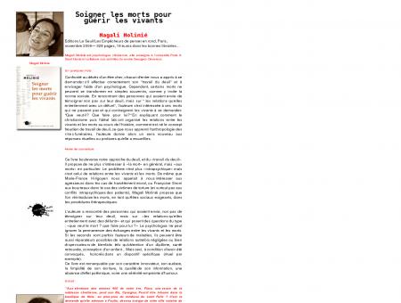 Magali Molinié : Soigner les morts pour guérir...