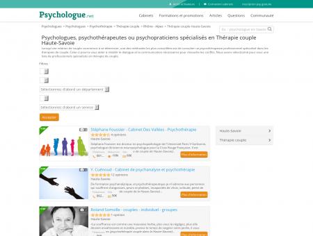 Thérapie couple Haute-Savoie - Psychologue.net