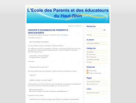 L'Ecole des Parents et des éducateurs du Haut...