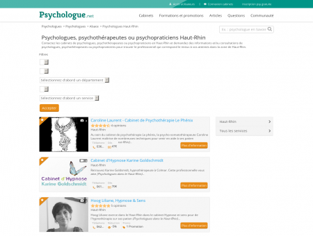 Psychologues Haut-Rhin - Psychologue.net