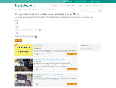 Psychologues Val-de-Marne - Psychologue.net