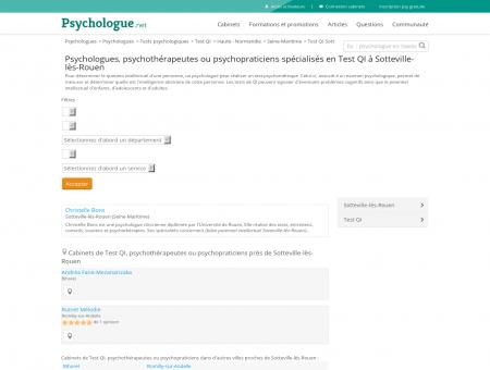 Test QI Sotteville-lès-Rouen - Psychologue.net