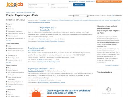Emploi Psychologue - Paris - JobisJob France