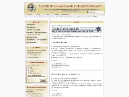 Ile-de-France (zone 01) Equithérapeutes...