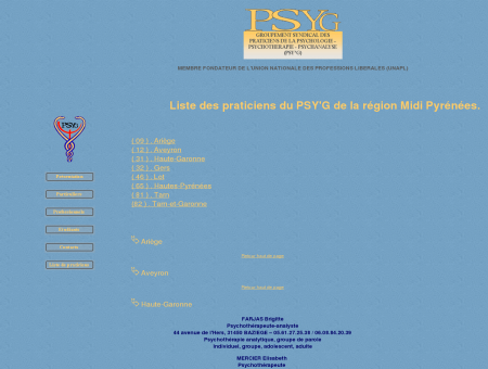 PSY'G Groupement Syndical des Praticiens de...