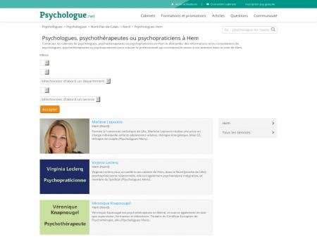 Psychologues Hem - Psychologue.net