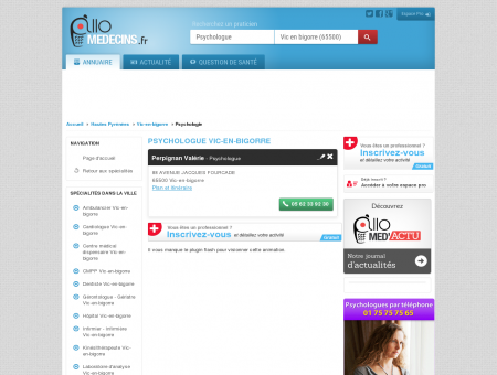 Psychologue Vic-en-bigorre - Médecin -...