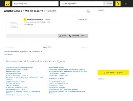 Psychologue à Vic en Bigorre - PagesJaunes :...