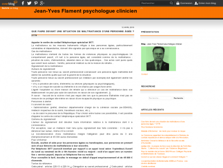Jean-Yves Flament psychologue clinicien -