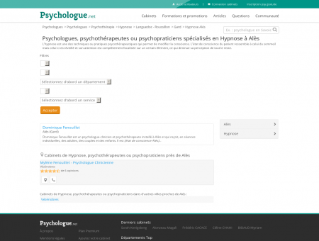 Hypnose Alès - Psychologue.net