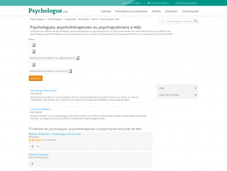 Psychologues Alès - Psychologue.net