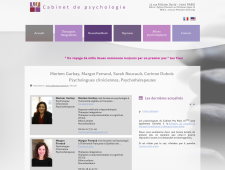 Cabinet de psychologie Gunther, Garbay,...