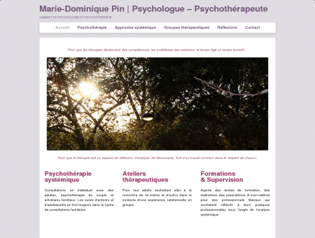Marie-Dominique Pin | Psychologue -...
