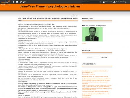 Jean-Yves Flament psychologue clinicien -