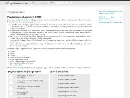 Psychologue à Lagardère (32310)