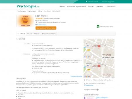 Edith Wehrlé - Psychologue.net