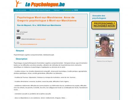 Psychologue Mont-sur-Marchienne: Anne de...