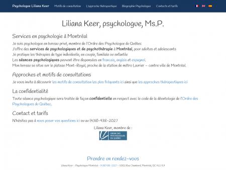 Psychologue Montréal | Liliana Keer | Accueil