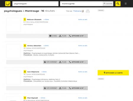 Psychologue à Montrouge - PagesJaunes :...