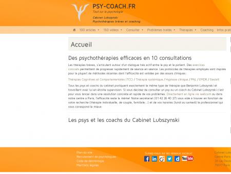 Cabinet Lubszynski - Psychothérapies brèves et...