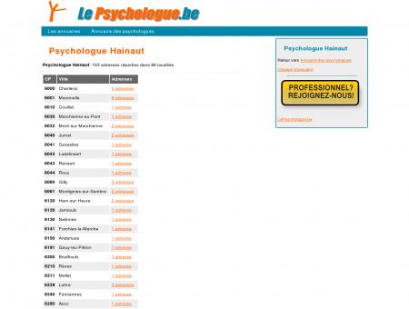 Psychologue Hainaut