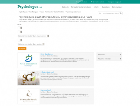 Psychologues Le Havre - Psychologue.net