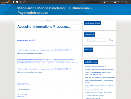 Marie-Anne Mariot Psychologue Clinicienne ...