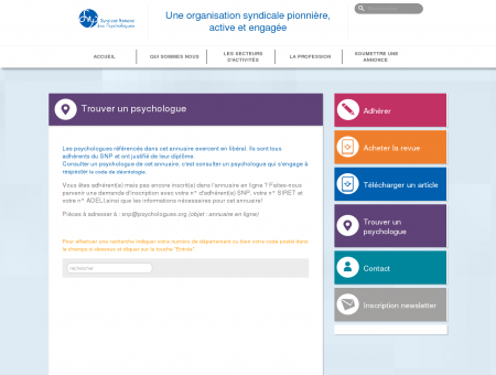- Syndicat National des Psychologues
