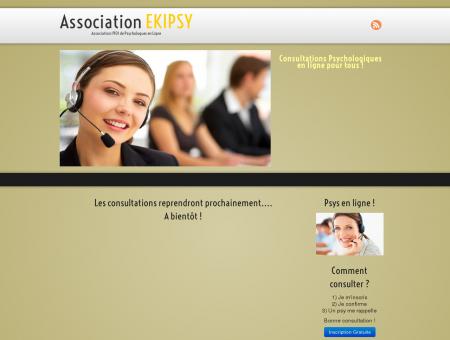 Association EKIPSY, Psychologue en ligne