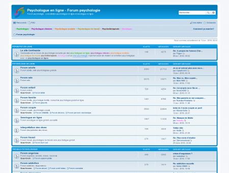 Psychologue en ligne - Forum psychologie -...
