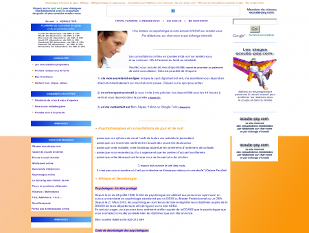 Psychologue clinicienne en ligne: consultations...