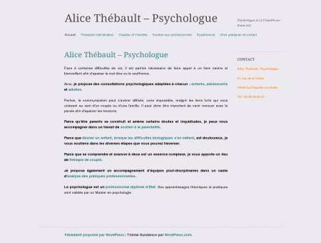 Alice Thébault - Psychologue | Psychologue à...