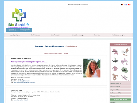 Annuaire therapeutes guadeloupe,971,adresses...