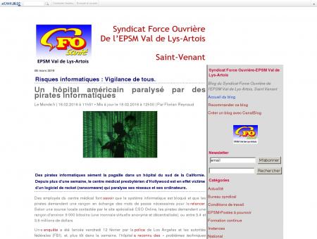 Syndicat Force Ouvrière-EPSM Val de Lys-Artois