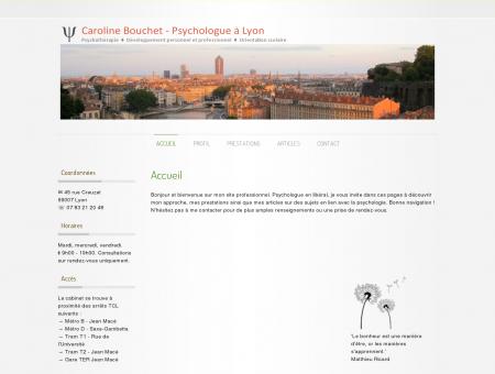 Accueil  Caroline Bouchet - Psychologue à Lyon
