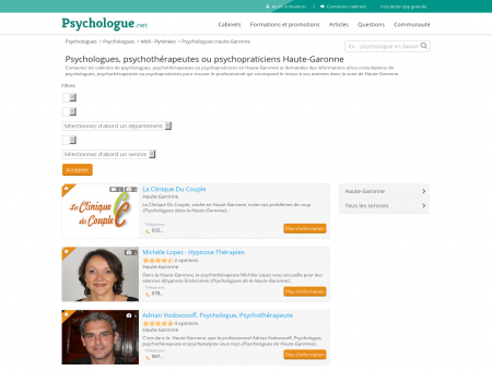 Psychologues Haute-Garonne - Psychologue.net