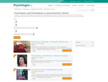 Psychologues Hérault - Psychologue.net