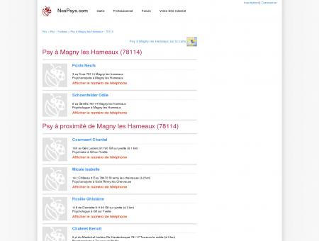 Psy à Magny les Hameaux (78114) -...